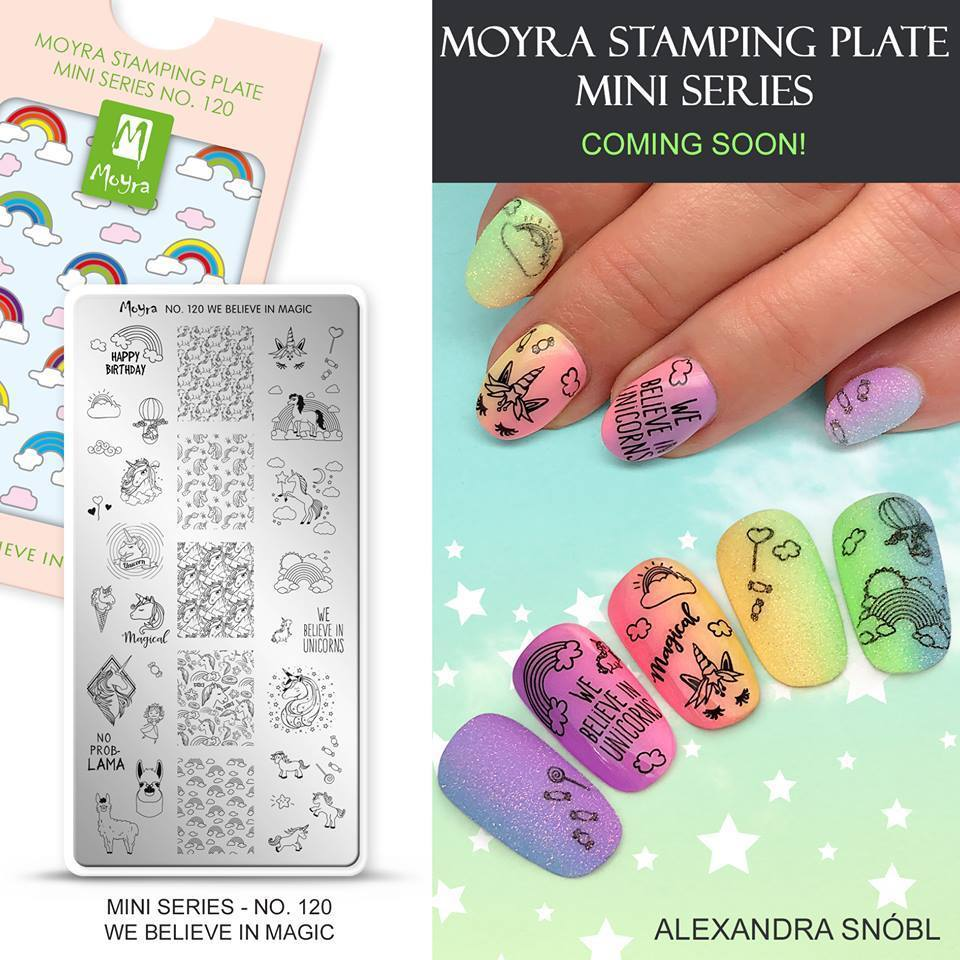 Moyra Mini Stamping Plate 120 WE BELIEVE IN MAGIC ...