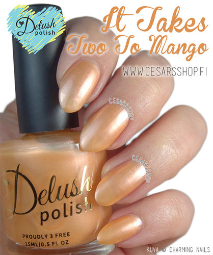 Delush Polish-Bombastic Summer Love- IT TAKES TWO TO MANGO
