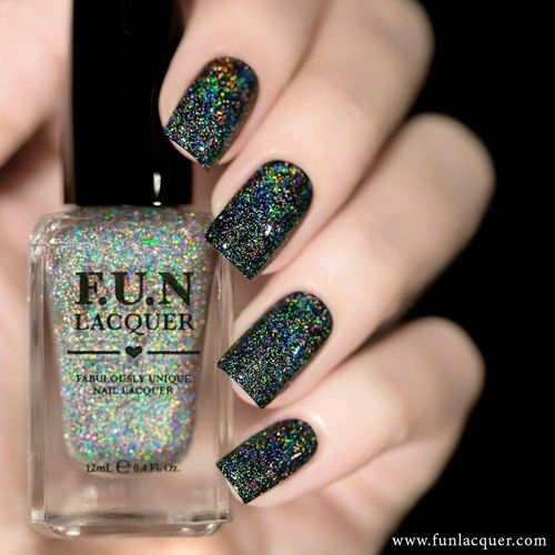 F.U.N Lacquer - Holo Topper -  CRUSHED DIAMOND