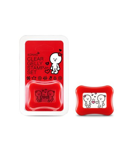 Konad x Barabapa Clear Gelly Stamp Set HAPPY