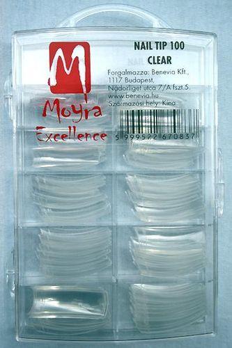 Moyra Tips Clear 100 qty
