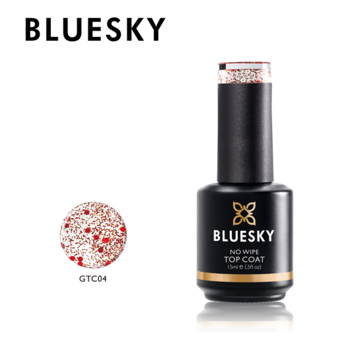 Bluesky PROFESSIONAL Gel Polish - No Wipe Glitter Top 2 15ml